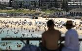 熱浪來襲,海灘成為消暑好地方。悉尼著名旅遊景點邦迪海灘週六滿佈人潮。 (圖源:澳洲廣播公司)