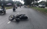 堅大偉與石鴻海騎車直撞交警案件現場。