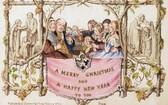 圖為全球第一張商業印刷聖誕卡的發行商複印樣版。(圖源:互聯網)