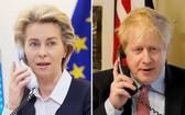 圖左:歐盟委員會主席馮德萊恩;圖右:英國首相約翰遜。(圖源:互聯網)