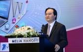 教育與培訓部長馮春迓在會上致詞。(圖源:教育資訊中心網)