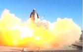 """當地時間9日,SpaceX發射的""""星舟""""SN8原型機在測試任務中爆炸。 (圖源:SpaceX)"""