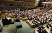 圖為 2016年4月22日,全球應對氣候變化新協議《巴黎協定》高級別簽署儀式在紐約聯合國總部舉行。(圖源:Getty Images)
