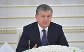 烏茲別克斯坦總統米爾濟約耶夫。(圖源:哈通社)