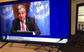 聯合國秘書長古特雷斯在氣候雄心峰會上致辭。(圖源:聯合國)
