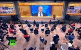 普京舉行2020年度視頻記者會議。(圖源:互聯網)