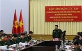 國防部長吳春歷大將在會上發表講話。(圖源:越強)