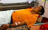 獲送醫院搶救治療的傷者Đ.B。(圖源:友福)