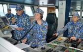 執行巡邏勤務中的越南海警。(圖源:越通社)
