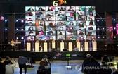 """11月19日,在釜山海雲台會展中心(BEXCO),韓國最大規模遊戲展""""G-STAR 2020""""隆重開幕。受疫情影響,本屆活動首次改在線上舉行。 (圖源:韓聯社)"""