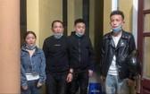 非法入境被查獲的4名中國人。(圖源:阮成)