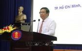 市歷史科學協會主席武文蓮教授在第十二次史學盛會上致詞。(圖源:越通社)