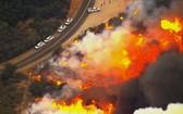 美國加州山火造成數十萬人流離失所。(圖源:美聯社)