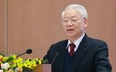 總書記、國家主席阮富仲在會議上致詞。(圖源:越通社)