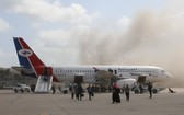 也門亞丁灣國際機場發生劇烈爆炸。 (圖源:Sputnik)