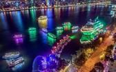 峴港市韓江美麗夜景一瞥。(圖源:互聯網)