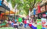 市書香街成為市民週末好去處。