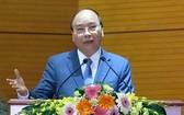 政府總理阮春福在會上致詞。(圖源:陳明)