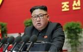 朝鮮最高領導人金正恩在大會上發表講話。(圖源:路透社)