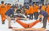 1月10日,印尼當局已撈到部分遇難者遺骸,放到岸上等候進一步相驗。(圖源:新華社)