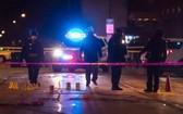 芝加哥與伊凡斯頓警方封鎖案發現場。(圖源:AP)