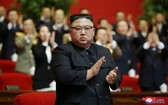 金正恩在朝鮮勞動黨第八次代表大會上被推舉為總書記。(圖源:朝中社)