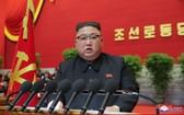 朝鮮勞動黨總書記金正恩在大會上致閉幕詞。(圖源:朝中社)