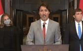 加拿大總理賈斯廷‧特魯多(中)。(圖源:Getty Images)