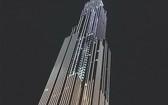 華燈初上的Landmark 81層商廈,西貢河畔一道美麗的風景線。(隋心攝)