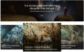 圖為谷歌Arts & Culture平台上所推介的廣平省風芽格邦國家公園「山水洞」探索資訊。(圖源:網站截圖)