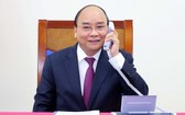 政府總理阮春福與澳大利亞總理斯科特‧莫里森通電話。(圖源:寶芝)