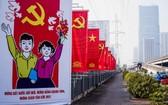 """慶祝黨""""十三大""""宣傳海報。(圖源:TTO)"""