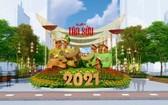 2021辛丑年阮惠春花街配景圖。