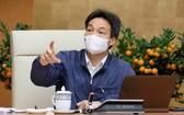 政府副總理、國家新冠肺炎疫情防控指委會主任武德膽在會議上發言。(圖源:VGP)