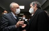國際原子能機構總幹事會見伊朗原子能組織主席薩利希。(圖源:伊朗媒體)