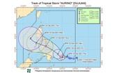 """圖為熱帶風暴""""杜鵑""""的移動方向。(圖源:PAGASA)"""