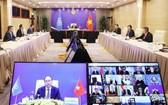 政府總理阮春福在聯合國安理會的視像高官公開討論會議上發表意見。(圖源:外交部)