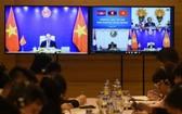 越老柬三國總理舉行視像會談。(圖源:VOV)