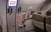 圖為飛機安全門。(示意圖源:互聯網)