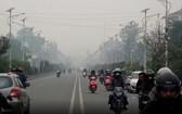 尼泊爾首都加德滿都空氣質量急劇惡化,能見度降到800米以下。(圖源:視頻截圖)