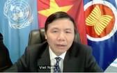 越南駐聯合國常值代表團團長鄧廷貴大使。(圖源:朱文)