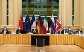 在奧地利維也納拍攝的伊核協議聯合委員會政治總司長級會議現場。(圖源:路透社)