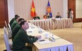 越南國防代表團以視頻方式出席2021年東盟國防高官工作組擴大會議。
