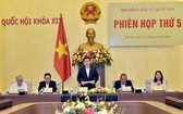 國會主席王廷惠(中)在會議上致開幕詞。(圖源:VGP)