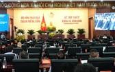 2016-2021年任期第九屆峴港市人民議會會議現場。(圖源:峴港市新聞網)