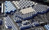 日本福島第一核電站核污水儲水罐。(圖源:互聯網)