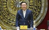 國會主席王廷惠在會議上致詞。(圖源:國陳)