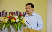 國會民族委員會主席何玉戰在會上發言。(圖源:春瓊)