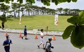 日本福岡縣宣佈,原定在縣內舉行的東京奧運聖火傳遞活動僅進行點火儀式。(圖源:AP)