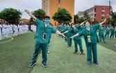 廣寧志願醫護團隊赴北江省支援之前造型合照,下決心有效控制住疫情。(圖源:VGP)